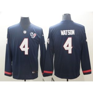 Houston Texans Deshaun Watson Long Sleeve Jersey